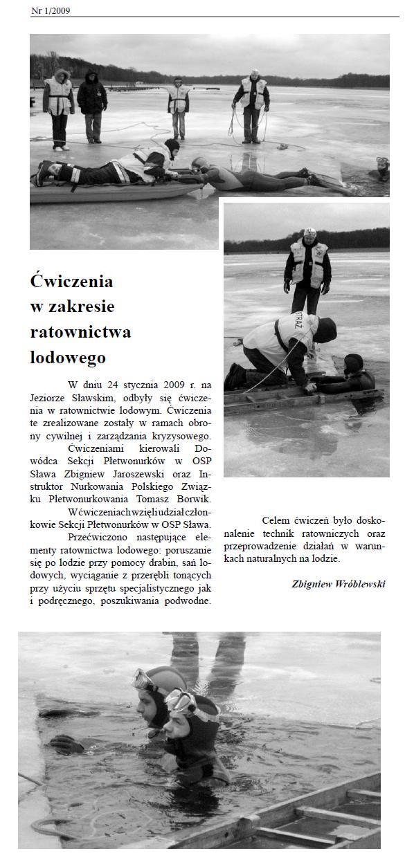 Ćwiczenia w zakresie ratownictwa lodowego