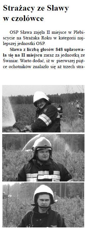 Strażacy ze Sławy w czołówce