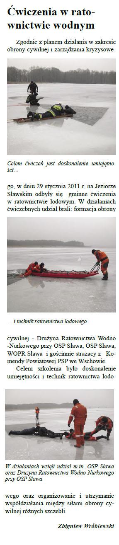 Ćwiczenia w ratownictwie wodnym