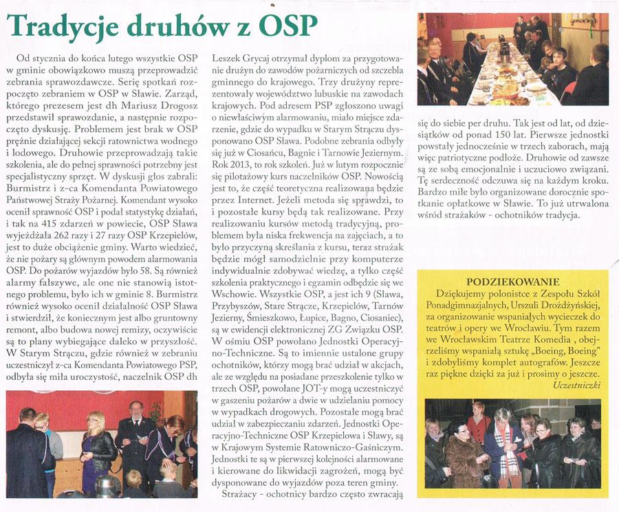 Tradycje druhów z OSP